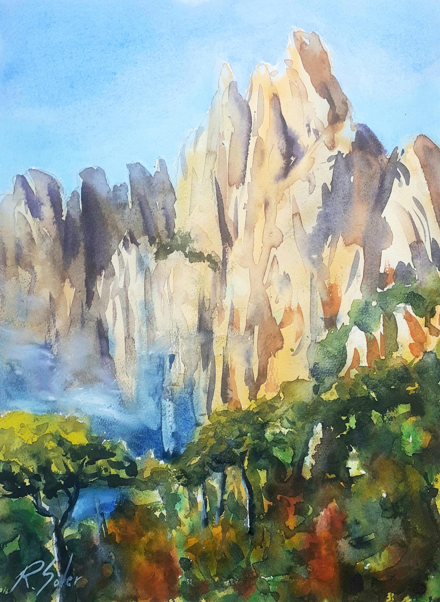 Detall de Montserrat 25 x 35 cm. (Disponible)