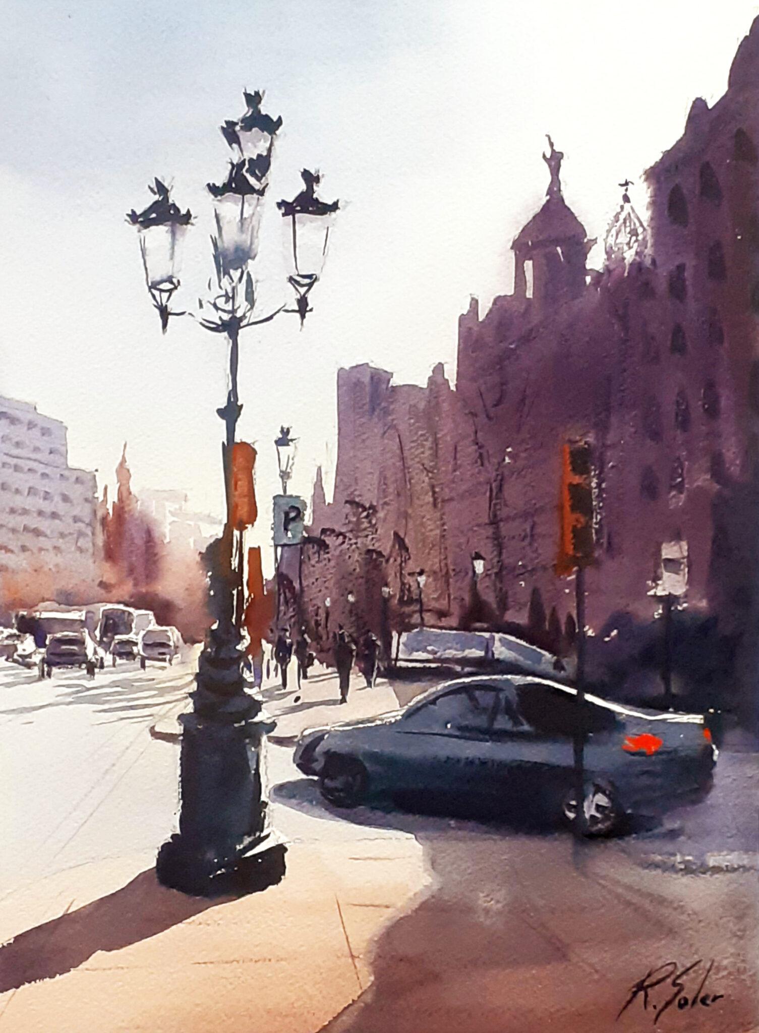 Passeig de Gràcia, 25 X 35 cm. (Disponible)