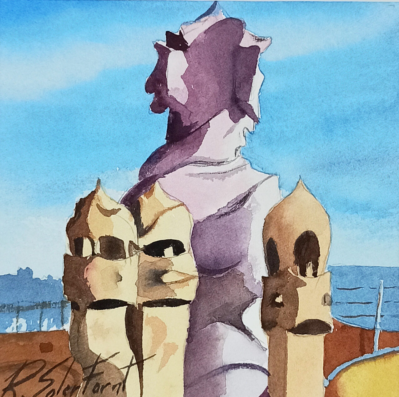 Chimenees La Pedrera, 15 x 15 cm. (Venuda)