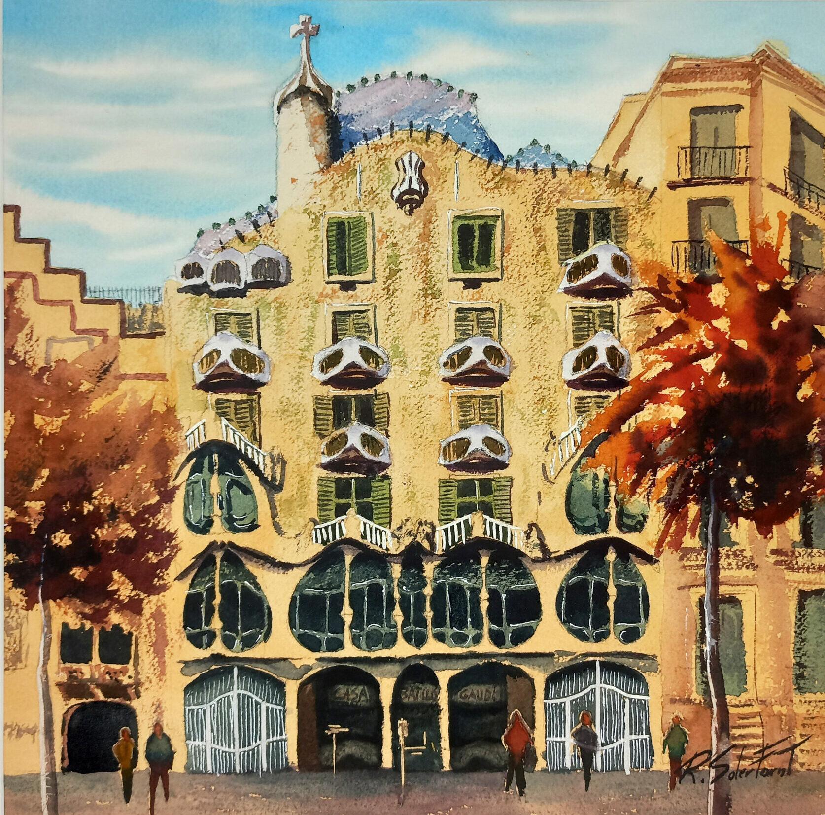 Casa Batlló, 35 x 35 cm. (Disponible)