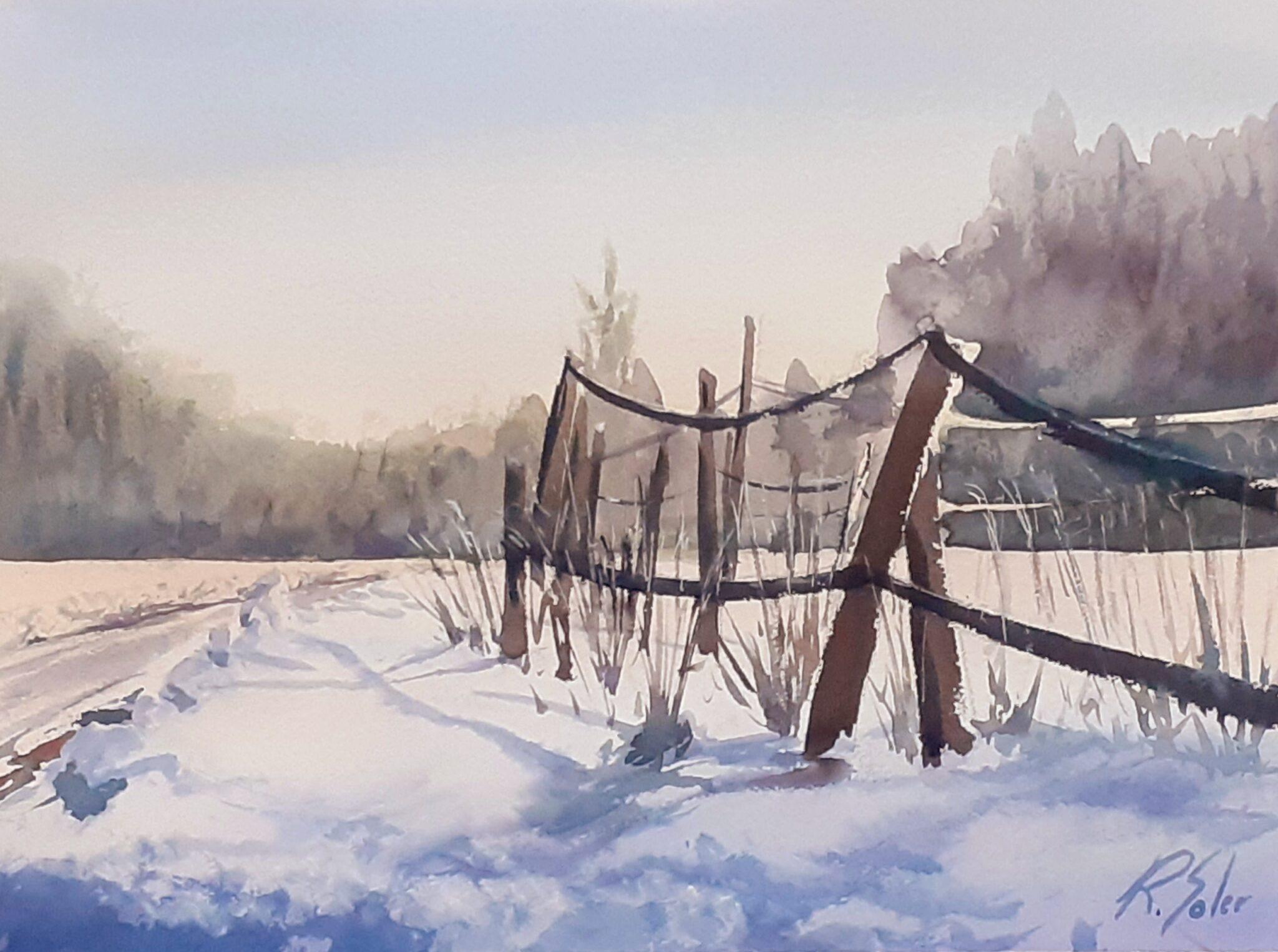 La valla, 25 x 35 cm. (Disponible)