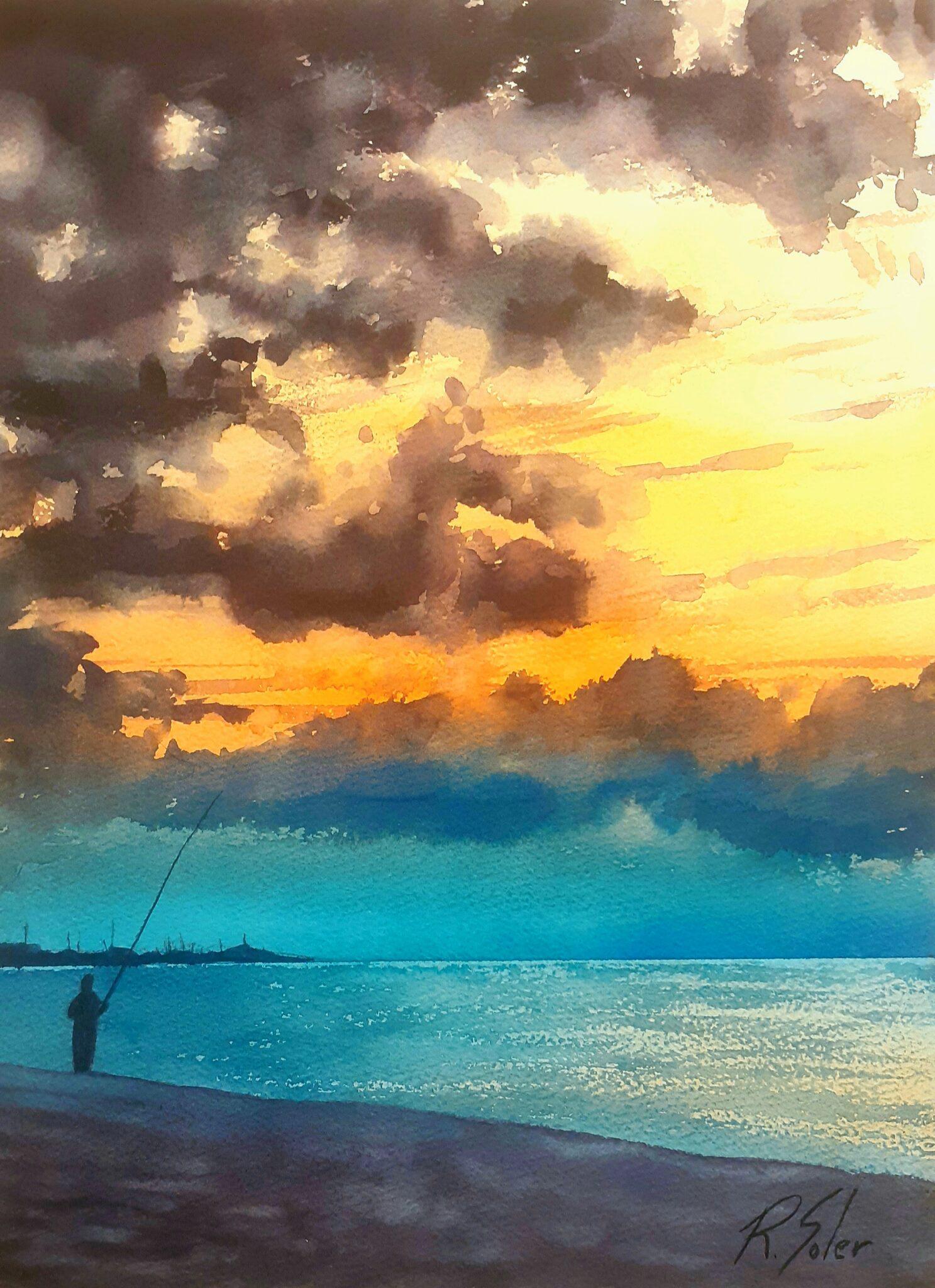 El pescador, 25 x 35 cm. (Disponible)