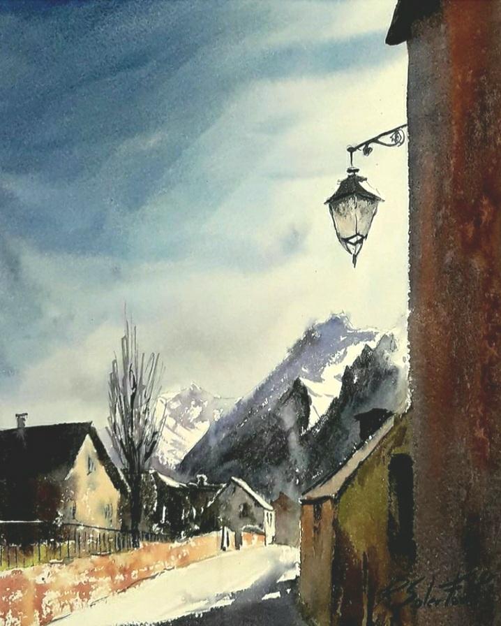 Contrallum, Vall d'Aran, 25 x 35 cm. (Disponible)