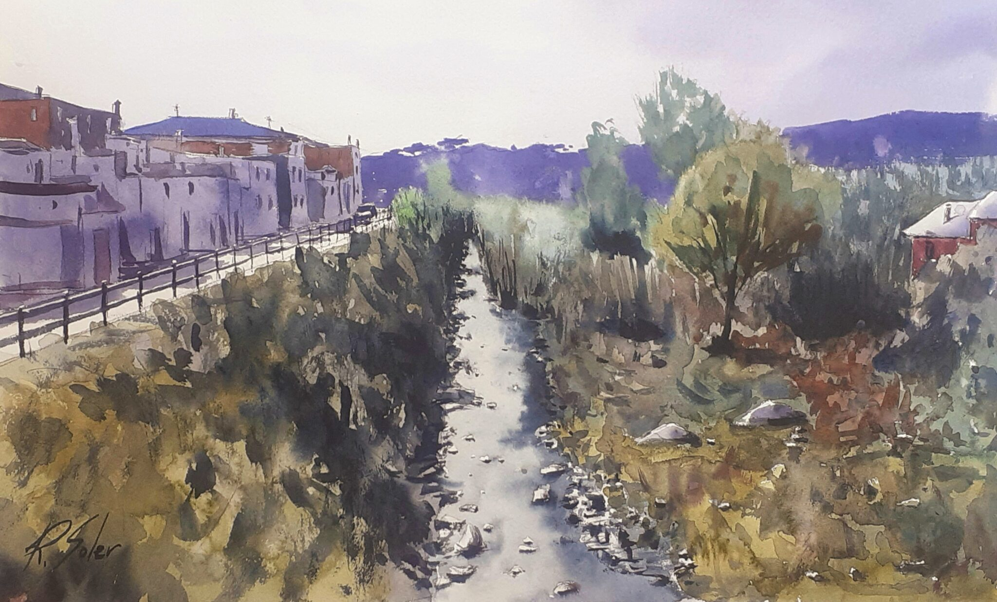 El riu Tordera, 30 x 50 cm. (Disponible)
