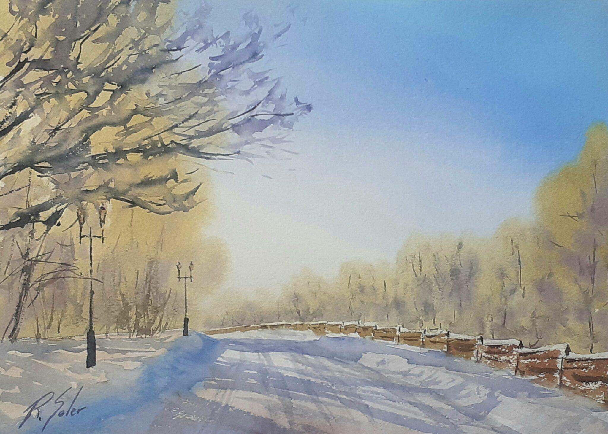 Camí nevat, 25 x 35 cm. (Disponible)