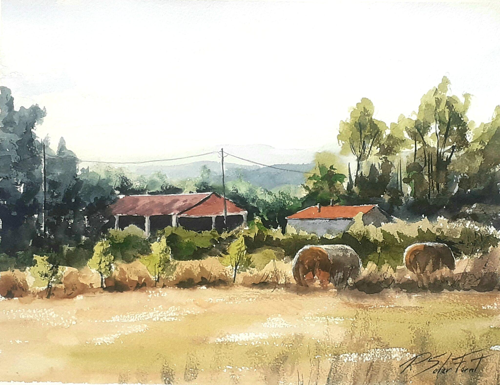 Vistes desde la masia La Plana, 30 x 40 cm. (Disponible)