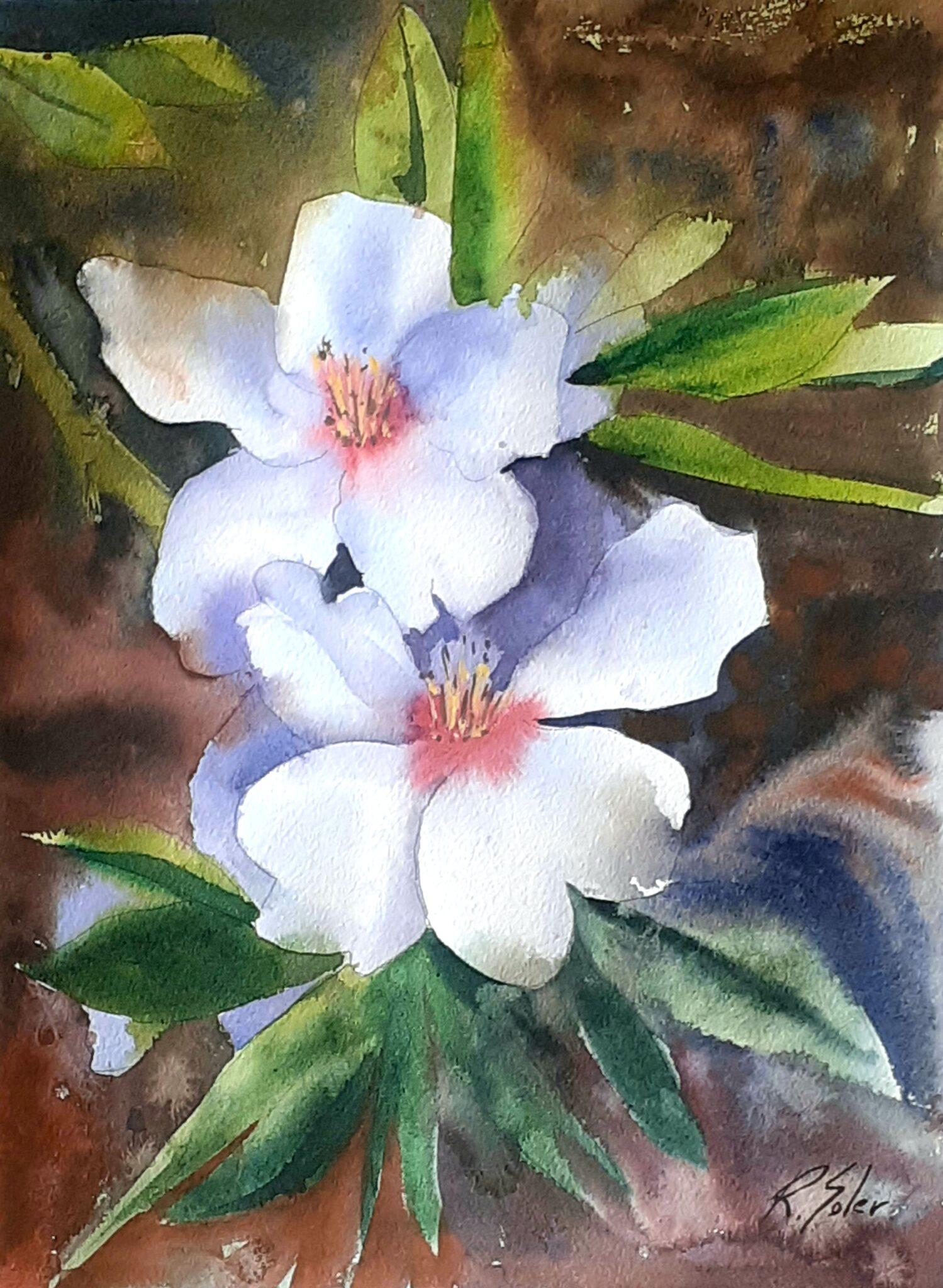 Flors d'atmetller, 25 x 35 cm. (Disponible)