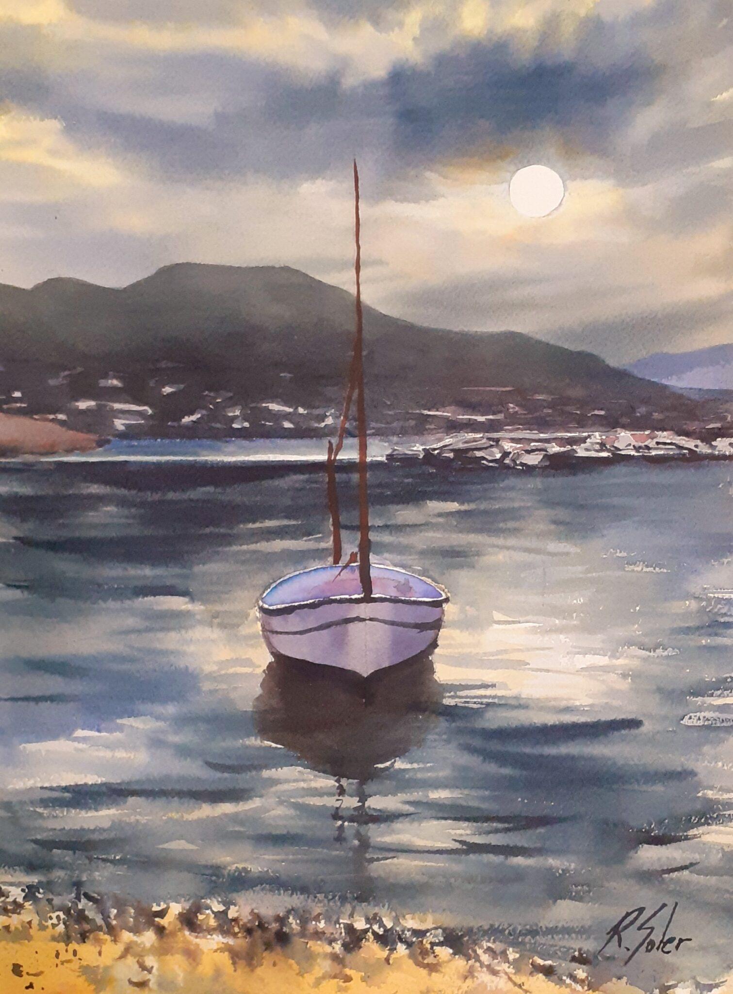 Barca a contrallum, 25 x 35 cm. (Disponible)