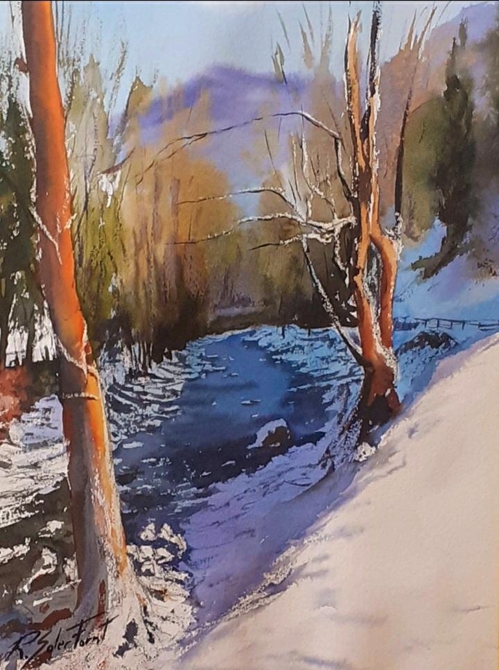 Riu del Pirineu, 25 x 35 cm. (Disponible)