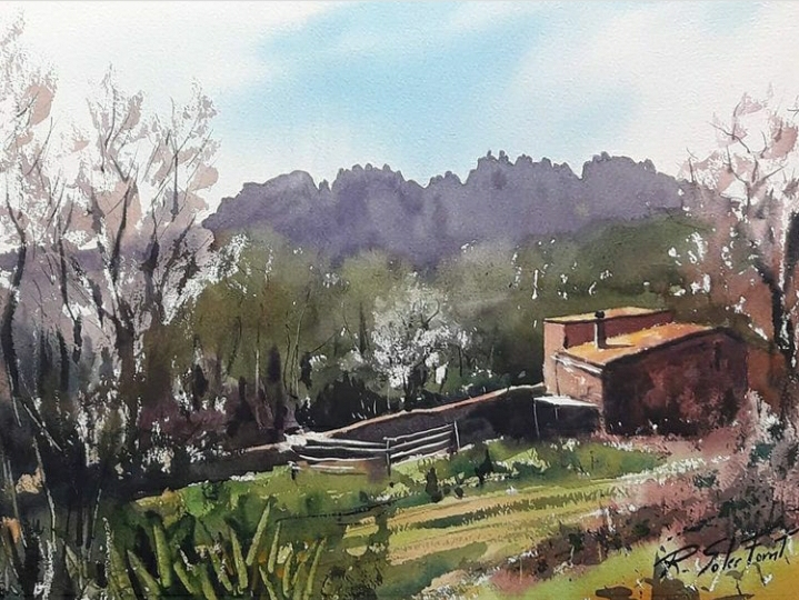 Prop de Montserrat, 25 x 35 cm. (Venuda)