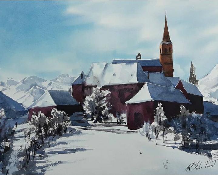Poble del Pirineu, (Venuda)
